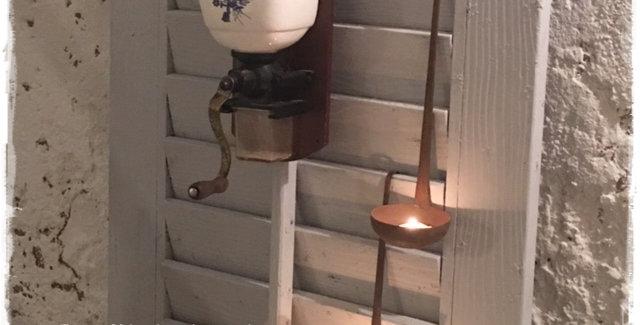 Kaffemühle blau - Coffee grinder