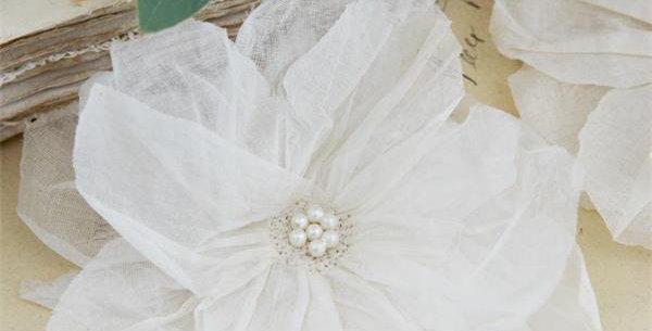 Stoff Blumen 11cm - fabric flower