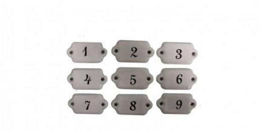 Keramic Schilder 1-9 - Ceramic numbers
