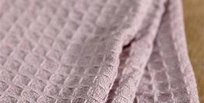 Waffel-Gästetuch rosa 40x60cm- waffle guest towel