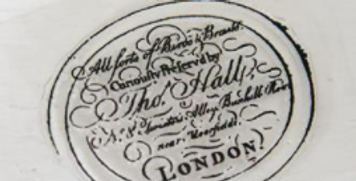 Stempel - Text Tho. Hall- Stamp