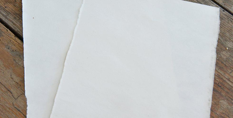 Büttenpapier A6 mit verbrannten Kanten- Paper with burnt edges