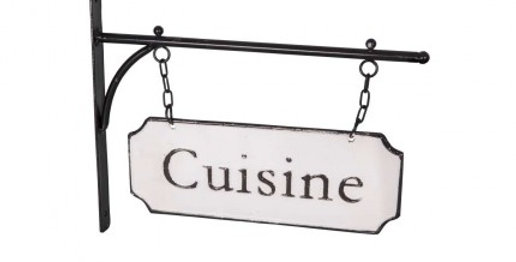 Schild Emaille - Cuisine