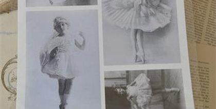 Blatt mit Ballettmädchen - Sheet with ballet girls.