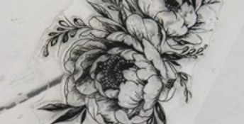 Stempel - Oval Flower- Stamp