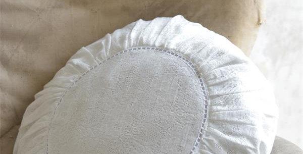 Kissen rund  creme-weiss - Round cushioncream-white