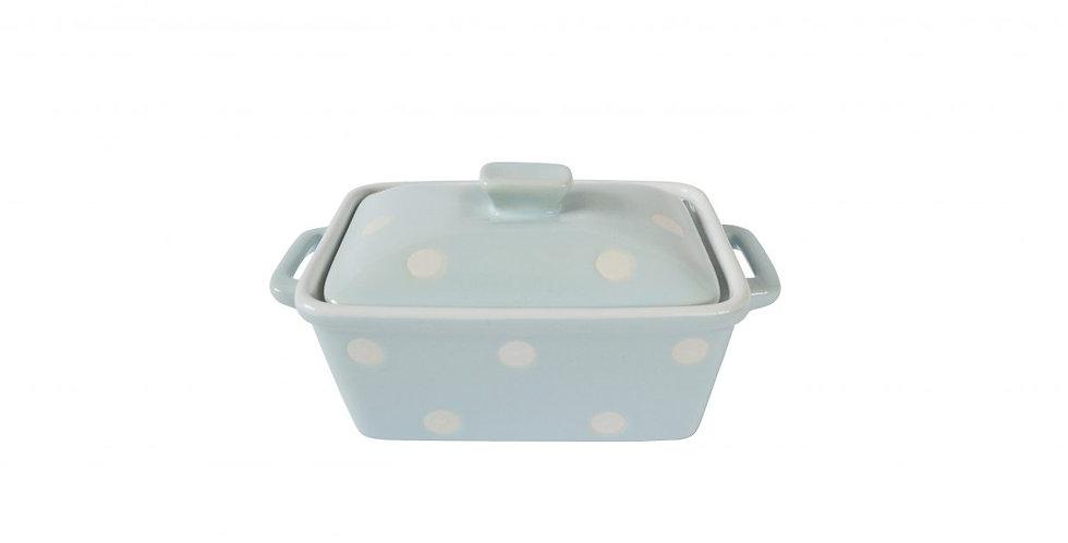Butter dish blau dots