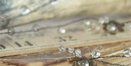 Drahtrebe-Perlen-Blumen - Wire vine