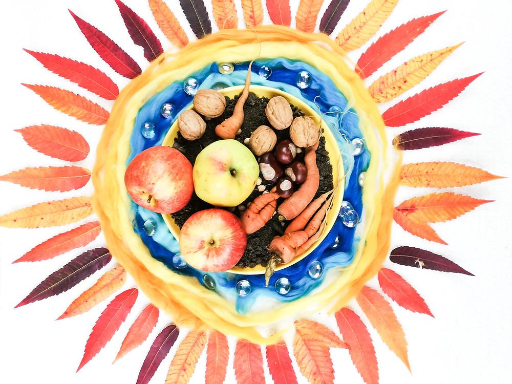 Herbst-Ernte-Obst-Gemüse-Erntedank-Kindergarten-Kita