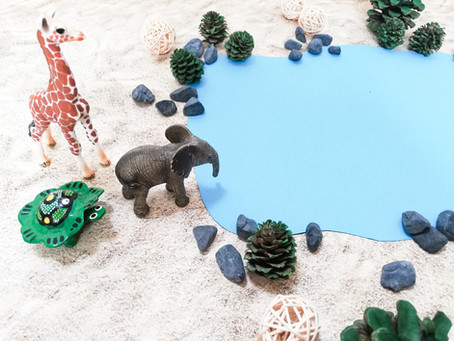 """Die Klanggeschichte """"Auf Wassersuche mit dem kleinen Elefanten"""""""