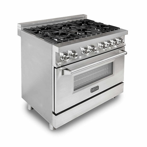 "ZLine 36"" Professional Dual Fuel- Gas Range/Electric Oven"