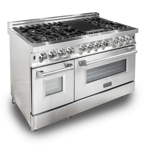 "ZLine 48"" Professional Dual Fuel- Gas Range/ Electric Oven"