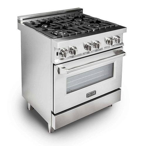 "ZLine 30"" Professional Dual Fuel- Gas Range/Electric Oven"