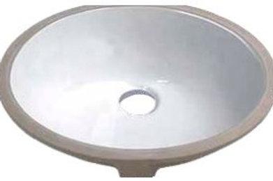 Porcelain Undermount Vanity Sink - Round