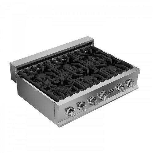 "ZLine 36"" Professional Porcelain Gas Rangetop RT36"