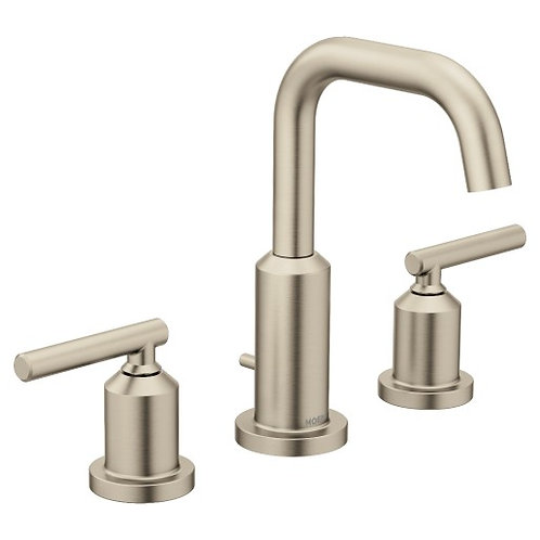 Gibson Brushed Nickel Widespread Two-Handle High Arc Bathroom Faucet