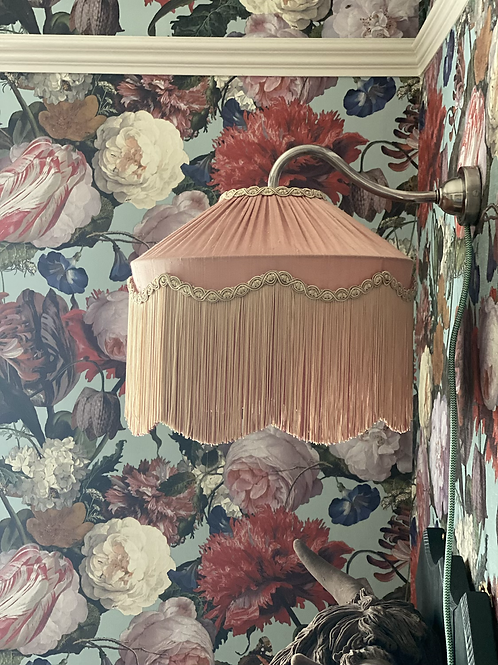 """Grantchester Wave Blush pink Lampshade 12""""-20"""""""