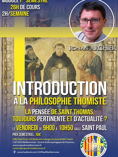 INTRODUCTION À LA PHILOSOPHIE THOMISTE