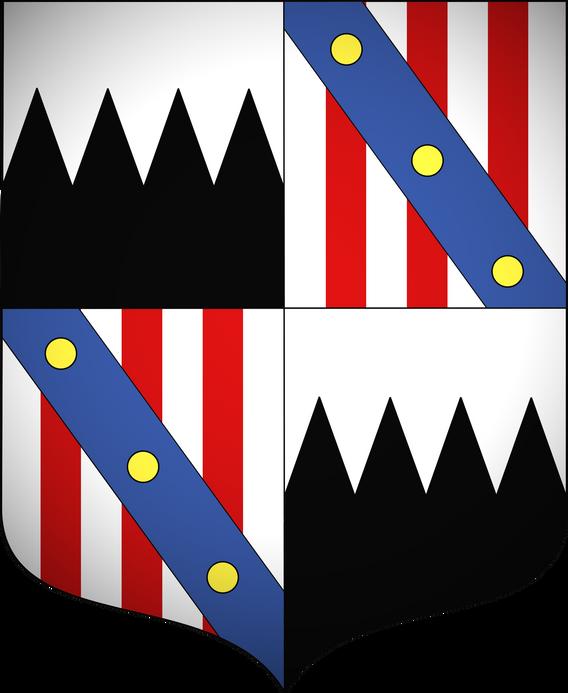 Blason famille RUFFO de BONNEVAL de LA FARE