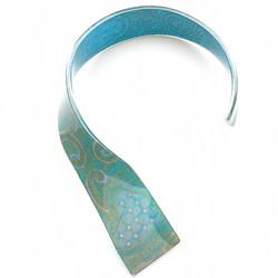 neckpiece resin heart print/teal