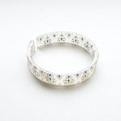 bracelet resin print white/gold/navy