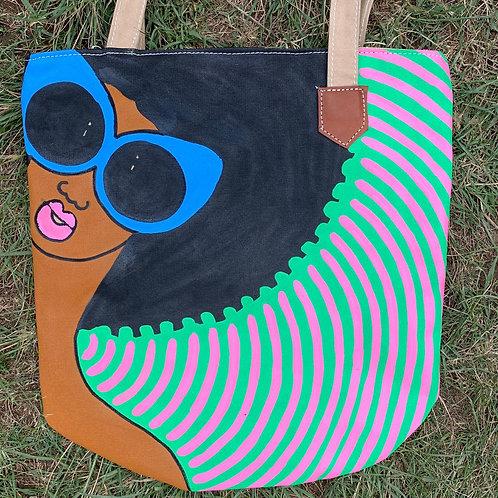 Tote Bag Handpainted 04