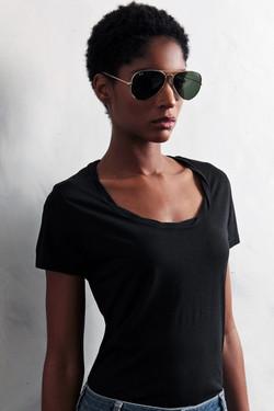 87Origins T-Shirt Twisted Neck B
