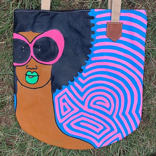 Tote Bag Handpainted 08