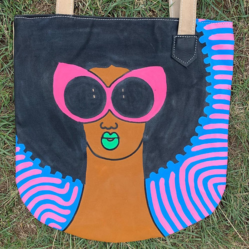 Tote Bag Handpainted 05