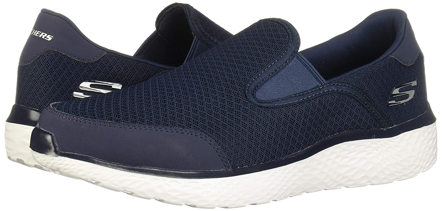 SKECHERS WITHOUT LACE NAVY-WHITE