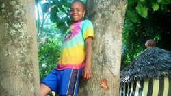 Halima Posing Up in the Tree