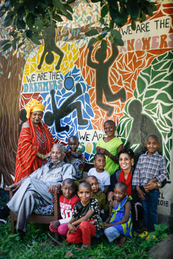 Babu, Mama C, Mwajabu and watoto