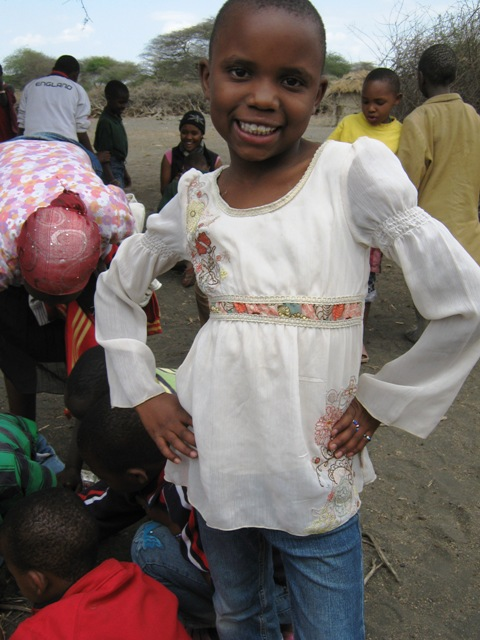 Winne in the Maasai villag