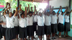 Students at the center celebrating