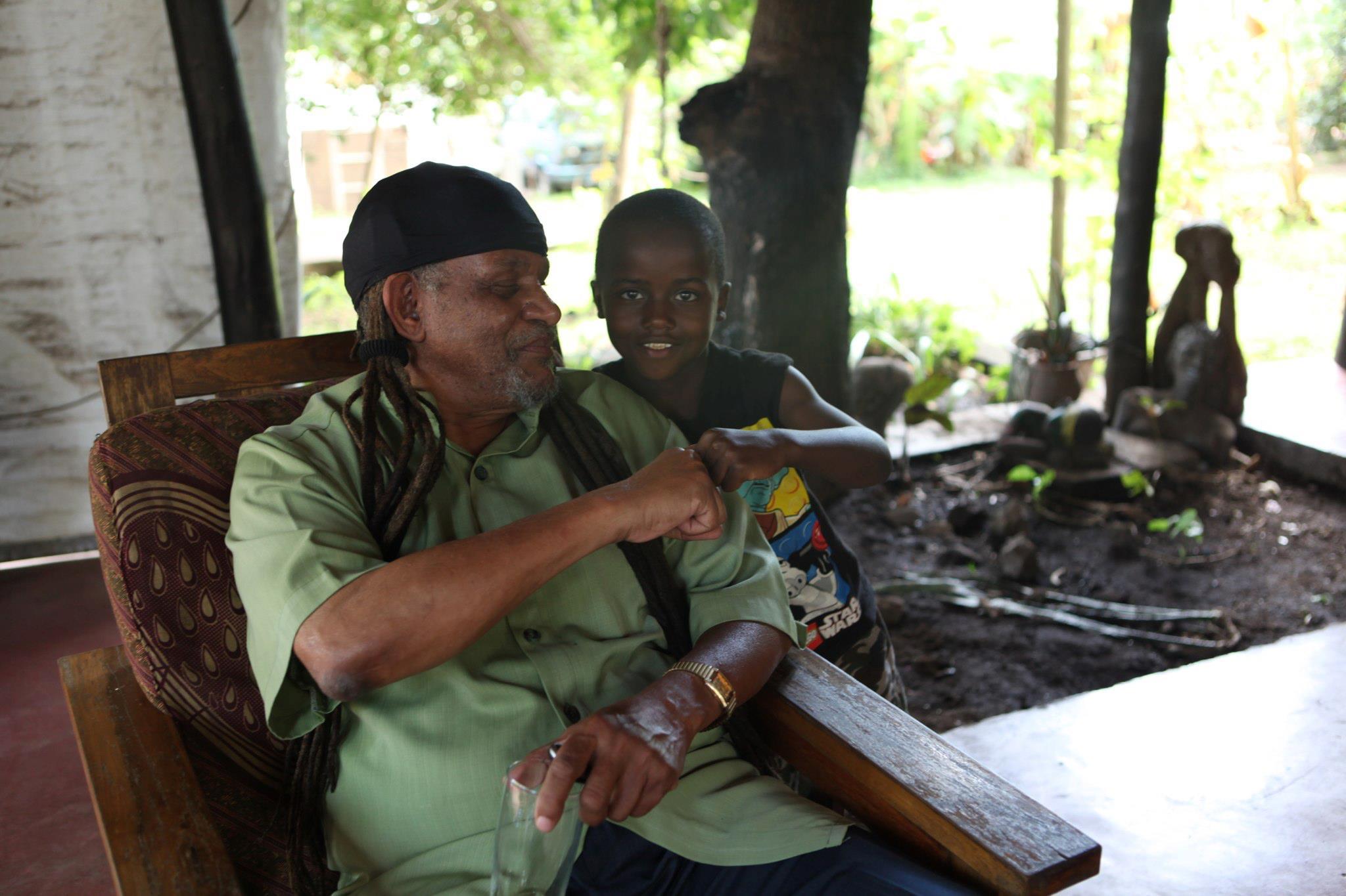 Joshua and Babu (grandpa)
