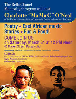 poster for Passaic, NJ visit