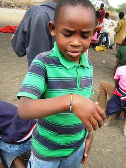 Omary made a Maasai bracelet