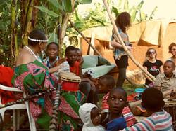Mama C jamming with the kids