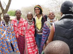 Mwajabu with some of the Maasai women