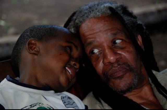 Babu (grandpa) Pete and Joshua