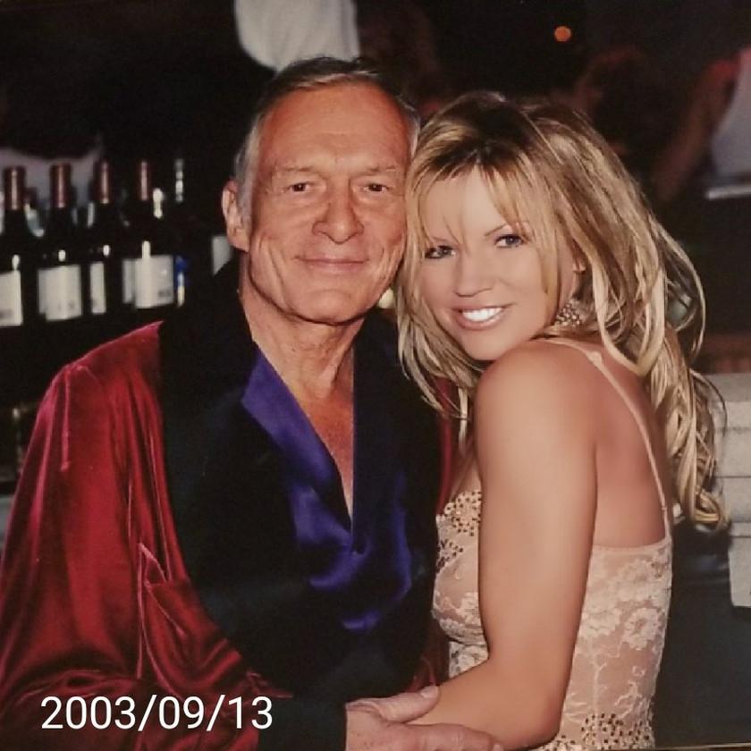 With Playboy's Hugh Hefner