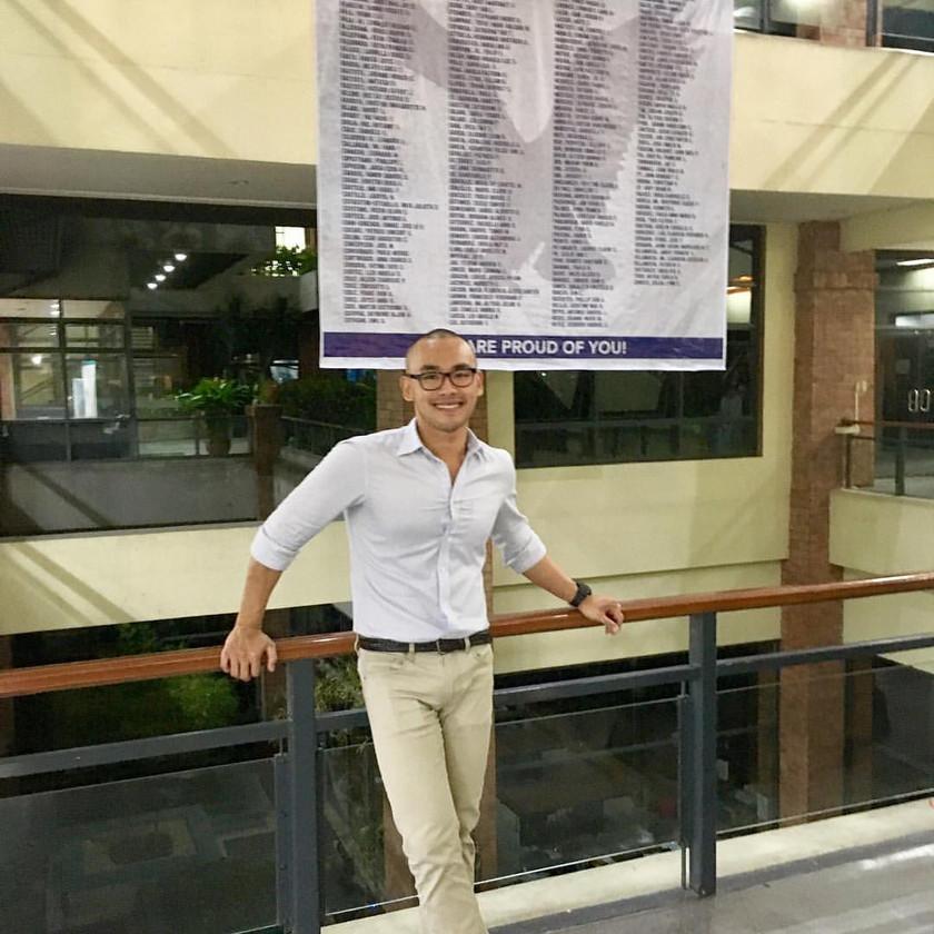 Ben at his former alma mater