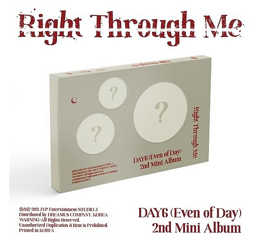 DAY6 (EVEN OF DAY) RIGHT THROUGH ME (2ND MINI ALBUM)