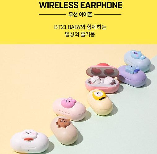 [ROYCHE] BT21 UNIVERSTAR BABY  BLUETOOTH WIRELESS EARPHONES