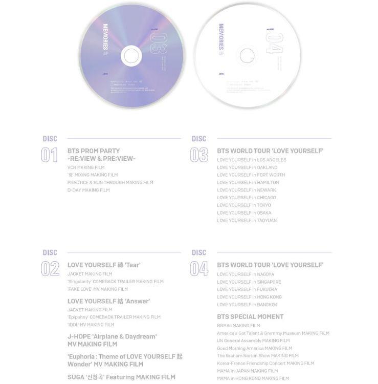 BTS MEMORIES OF 2018 DVD