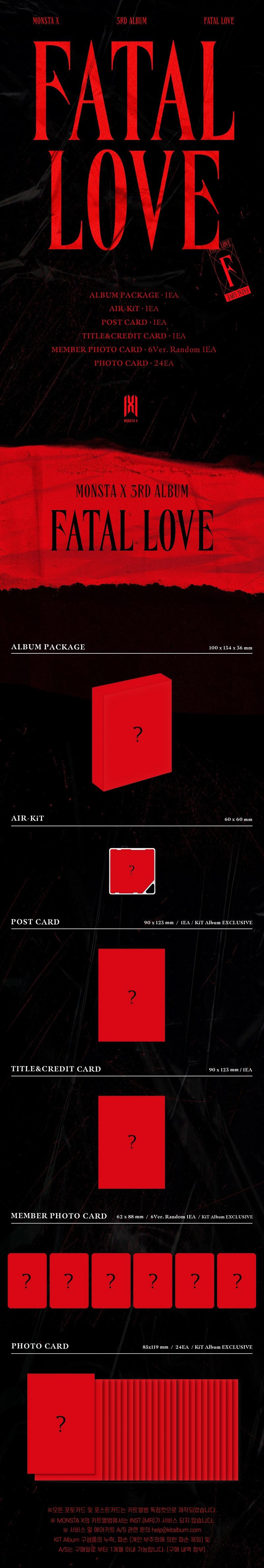 Monsta X Fatal Love 3rd Album Air Kit Shop