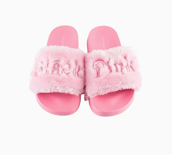 BLACKPINK SLIDE FUR SLIPPER
