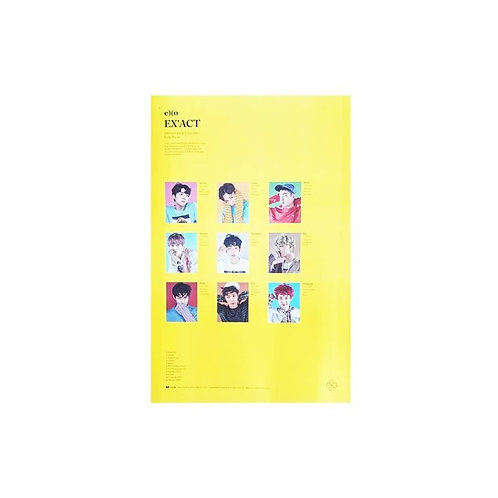 EXO 3RD ALBUM EX'ACT LUCKY ONE POSTER