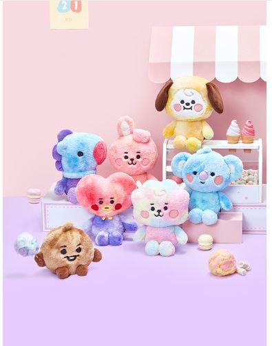BT21 BABY COTTON CANDY STANDING DOLL