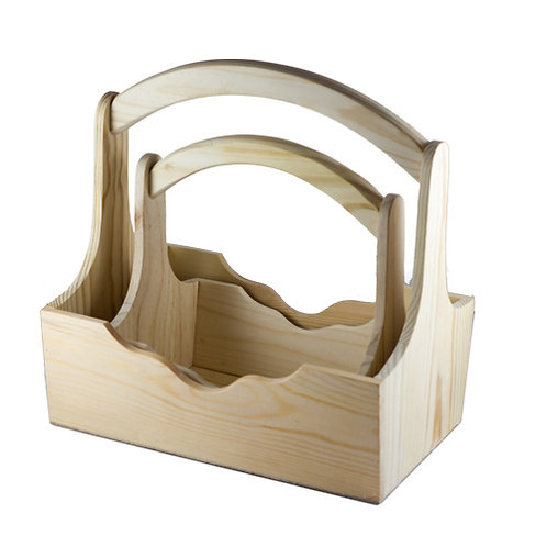 Medium Wooden Gift Basket